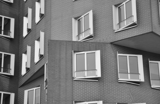 Nested windows on Gehry building
