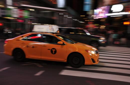 New York cab at rush hour