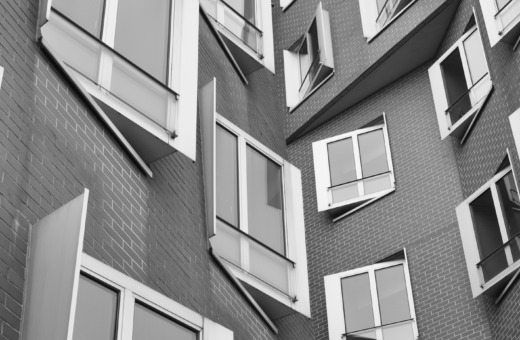 Perspectives on Gehry building, Düsseldorf