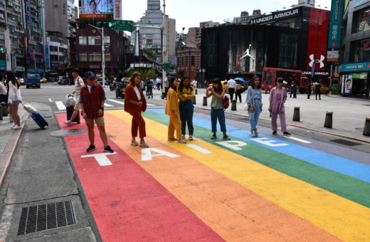 Rainbow crosswalk in Taipei, Taiwan