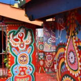 View into an alley in Taiwan's Rainbow Village